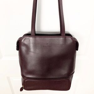 Etienne Aigner | Burgundy Leather Bucket Tote L09